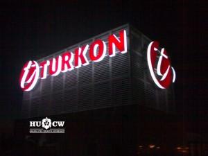 Turkon Holding A.Ş Altunizade ışıklı çatı tabelası