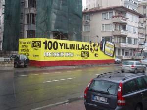 Twigy inşaat önü reklam çalışması