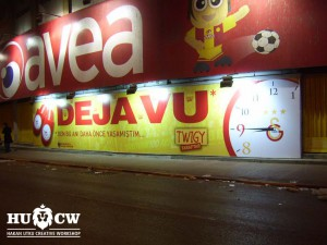 Galatasaray sportif A.Ş Dıştan aydınlatmalı reklam çalışması